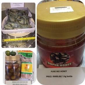 Free Prawn , Honey , Dry lime juice