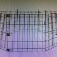 Puppies playpen with 8 panels and a gate
