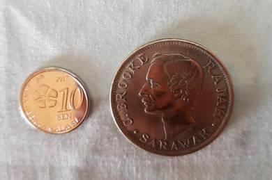 50 Cents C.Brooke, Rajah of Sarawak