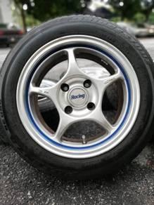 Enkei rpo1 15 inch sports rim proton iriz tyre 70%
