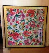 Vintage Framed Silk Picture 29 x 29 inches