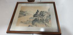Chinese vintage San sui ink art SLG