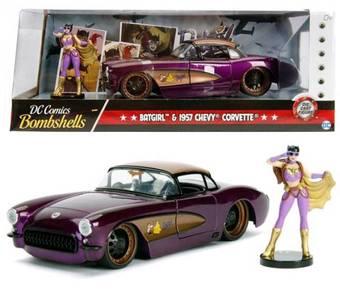 DC Comic Bombshell - Batgirl & 1957 Chevy Corvette