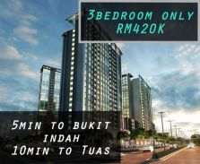 Bukit Indah area,Price drop now,Fully Furnish,Monthly RM1800+