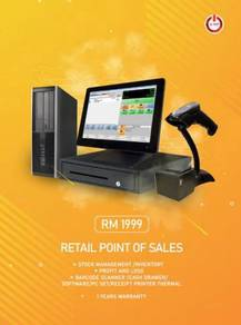 Set point of sales baru and mix pc 2nd