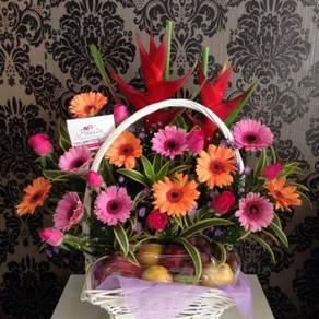 Premium Basket dan Bunga Segar