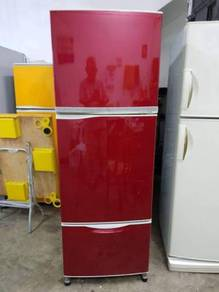 Toshiba 3 Doors Red Refrigerator Peti Sejuk Ais