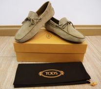 Tod's Gommino Suede Driving Shoes/Loafers In Brown