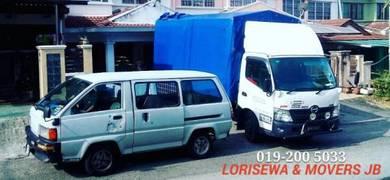 Lori Sewa Transport Movers JB Johor Bahru Pindah