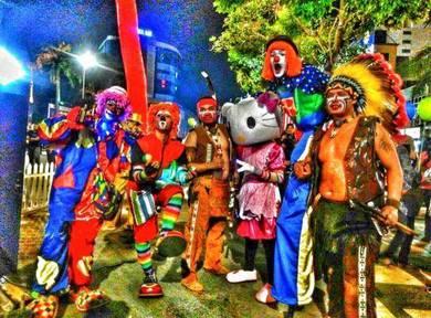 Badut melaka + Mascot ,Magic show + Malacca Clown