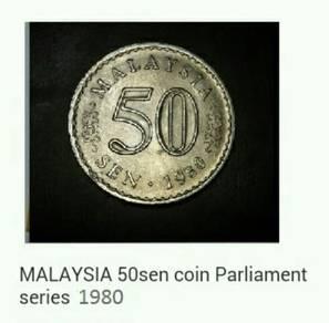 Duit Parliament 1980 - 50 sen