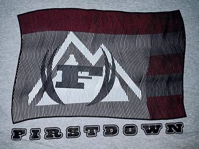 Authentic FIRST DOWN USA LOGO SzL T-Shirts