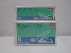 MAX HD-10 Stapler & DP-f2B Color Punch