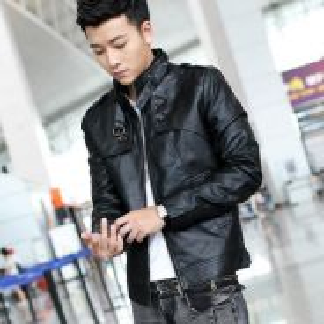 Men PU Leather Jacket Coat Blazer (1)