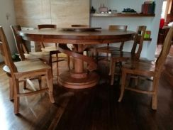 5.5' Teak dining set with 7 seaters-self pickup