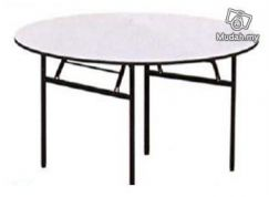 Banquet Table Round 5FtX2.5Ft 8Pax 25mm Leg