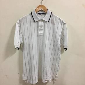 Aquascutum Golf Shirt Size M White