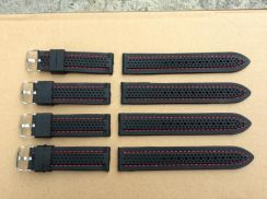 Rubber Strap 22mm Red Line