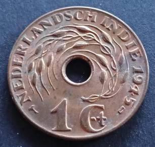 Nederlandsch Indie 1 Cent 1945 (Item A)