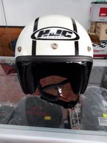 Helmet HJC double visor retro style