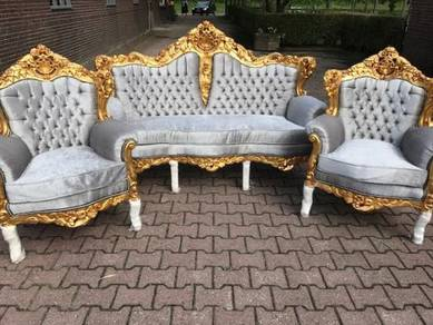 Important rococo revival rosewood tuthill sofa