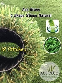 C35mm Natural Artificial Grass Rumput Tiruan 06