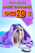 Dog basic grooming rm20 only