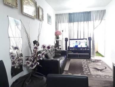 (RENOVATED c/w Balcony) Residensi Bistaria 3R2B F/H