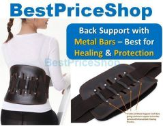 BPS Medical Waist Back Support with Metal Bars