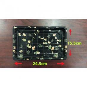 24.5x15.5x4.8cm Sushi box gold ± 50pcs/100pcs