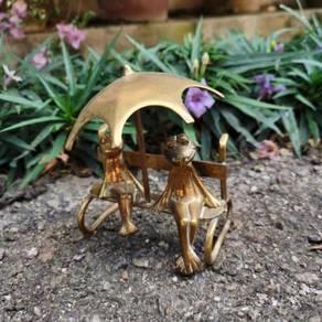 BER1 Antique Brass Katak Tembaga Antik Hiasan