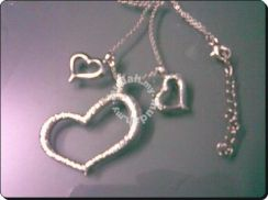 ABPSM-H005 Lovely Three Silver Sweet Love Necklace