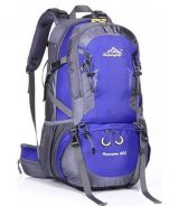 Gear Travel Hiking Bag Camping Backpack (Blue)