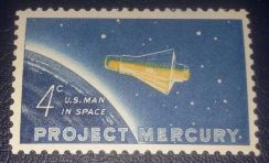 US Postage Project Mercury 1962 4c