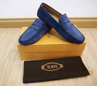Tods Gommino matte blue Nubuck Leather Loafers