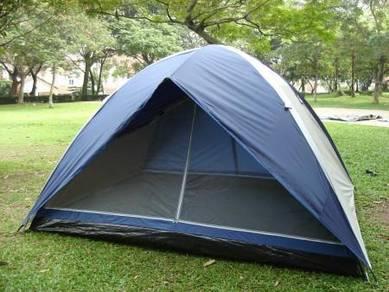 1503 CII 6 Persons Dome Tent (None Silver 2 Door)