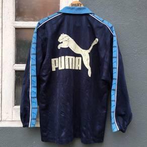 Puma Track Top big logo spell out vintage vollny