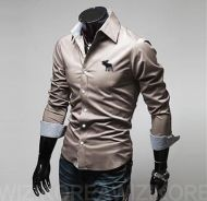 [55] Plain Elk 5 Color Long Sleeved Shirt (Cream)