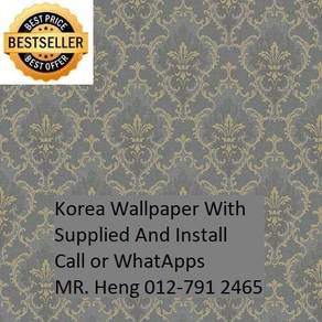 PVC Vinyl Wall paper with Expert Install 65r