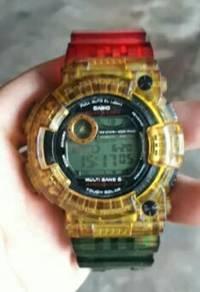G-shock frogman jelly rasta GWF-1030A original