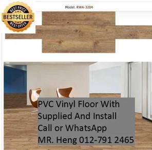 Natural Wood PVC Vinyl Floor - With Install y78ij