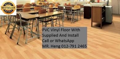 PVC Vinyl Floor In Excellent Install 78ui