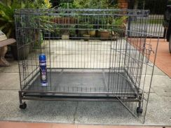 Heavy Duty Big Dog Cage W/Wheel