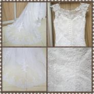 White laced bridal gown