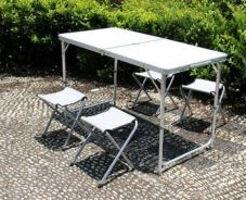 Aluminium Foldable Picnic Table With Chairs