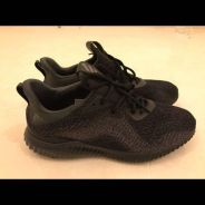 Adidas alphabounce black colour size UK12