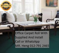 Natural Office Carpet Roll with install 098i