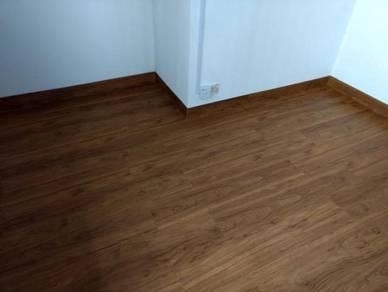 Vinyl Floor Lantai Timber Laminate PVC Floor Q302