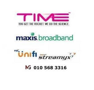 Pahang Unifi Maxis Time Fibre internet wifi modem