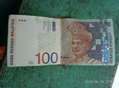Duit lama Rm100 signature Aishah.